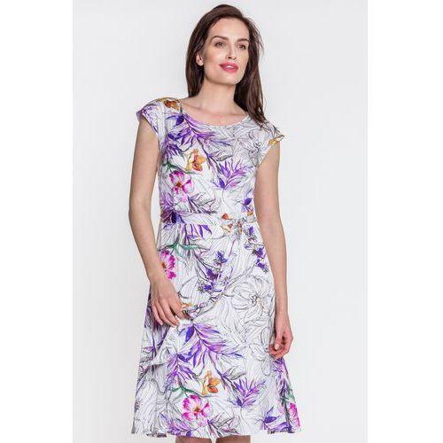 033c4aa5efa949 Biała sukienka w kwiaty (Far Far Fashion) - sklep SkladBlawatny.pl