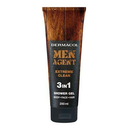Dermacol Men Agent Extreme Clean 3in1 żel pod prysznic 250 ml dla mężczyzn - Super upust