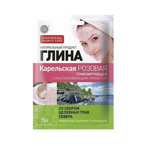 Glinka karelska różowa tonizująca 75g Fitokosmetik, rosja