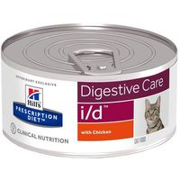 Hills prescription diet feline i/d digestive care, kurczak - 12 x 156 g