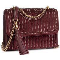 Torebka TORY BURCH - Fleming Mini Stud Velvet Small Shoulder Bag 56277 Claret 639