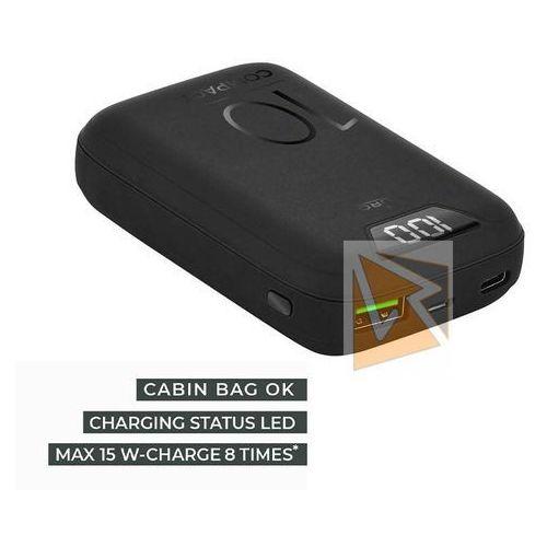 Puro compact power bank - power bank dla smartfonów i tabletów 10000 mah, usb-a, usb-c, 15 w + wyświetlacz led (czarny) (8033830271151)