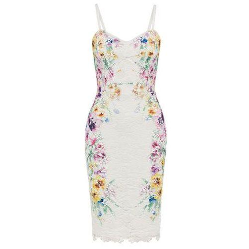 Bonprix Sukienka z koronką biały