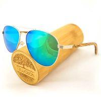 Drewniane okulary przeciwsłoneczne Niwatch Musca Green Mirror