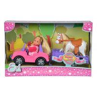 Simba Lalka evi love w jeepie z koniem na przyczepie (4006592047948)