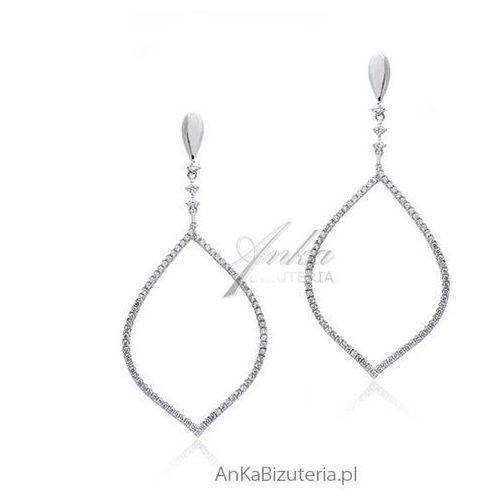 Biżuteria srebrna - piękne kolczyki z cyrkoniami LineArgent
