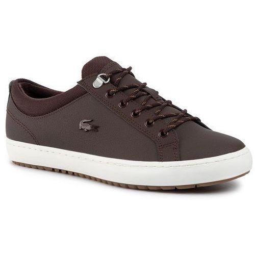 Sneakersy LACOSTE - Straight Set Insulat 3192 Cma 7-38CMA00621W7 Dk Brw/Off Wht, kolor brązowy