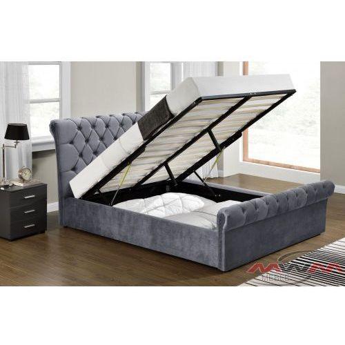 Łóżko tapicerowane do sypialni 160x200 1298g welur marki Meblemwm