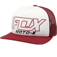 czapka z daszkiem FOX - Throttle Maniac Trucker Dark Red (208)