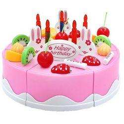 Duży tort urodzinowy do krojenia + świeczki, 75 elementów 889-19A