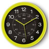 Zegar ścienny PBS Pro Gloss zielony, kolor różowy