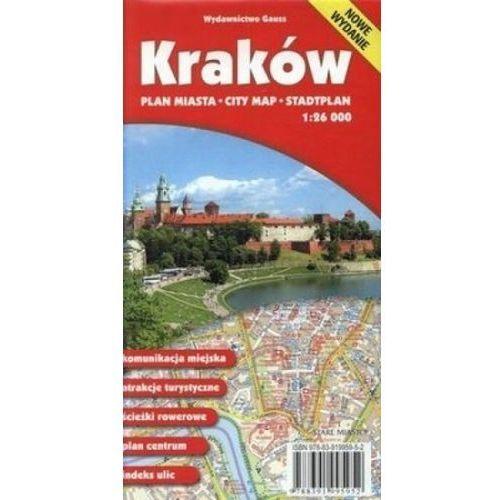 Kraków. Plan miasta. 1:26000, Gauss (9788391995952)