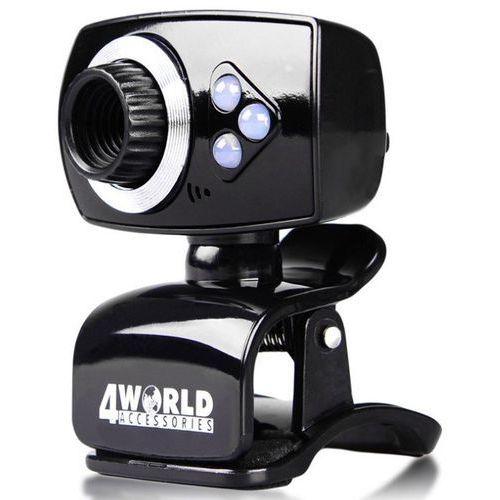 4world Kamera internetowa 2MPx USB, z podświetleniem LED, mikrofon (5908214369539)