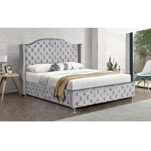 łóżko Tapicerowane Do Sypialni 160x200 Sf908 Szary Welur A61d 498tr Meblemwm