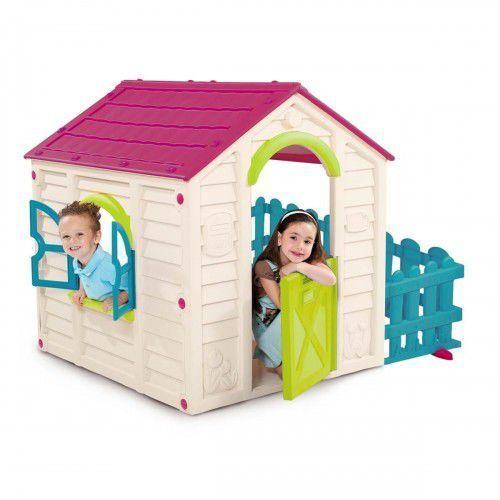 Keter Domek dla dzieci curver my garden house fioletowy - kremowy