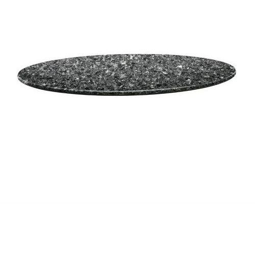 Topalit Blat okrągły czarny granit | różne wymiary