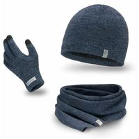 Komplet męski PaMaMi - czapka, szalik, rękawiczki