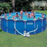 Intex intex basen ogrodowy okrągły z metalową ramą 549x122cm 24311l (8718475921370)