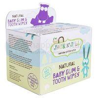 natural baby gum & tooth wipes 25szt - naturalne chusteczki do pielęgnacji dziąseł i pierwszych ząbków niemowląt marki Jack n'jill