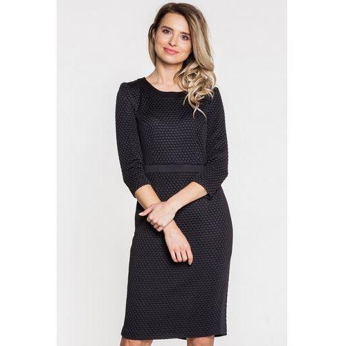 71679e1efb Zobacz ofertę Sukienka wizytowa z fakturą w kropki - Vito Vergelis