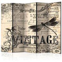Parawan do mieszkania 5-częściowy - Vintage Correspondence II 225 szer. 172 wys.