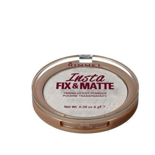 Rimmel puder prasowany insta fix&matte translucent - 001