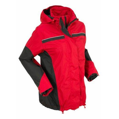 Kurtka na każdą pogodę 3 w 1 bonprix czerwono-czarny, kolor czerwony