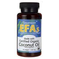 Kapsułki Swanson Olej z kokosa Coconut Oil 1000mg 60 kaps.