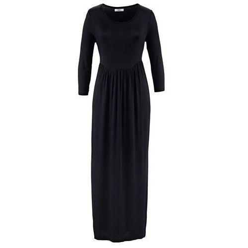 Sukienka z rękawami 3/4 bonprix czarny, w 8 rozmiarach