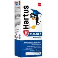 Syrop HARTUŚ syrop dla dzieci MAGNEZ + WITAMINA B6 od 3rż smak truskawkowy - uczenie się pamięć 120ml