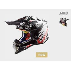 KASK MOTO OFF ROAD ENDURO LS2 MX470 SUBVERTER EMPEROR WHITE RED, kolor biały