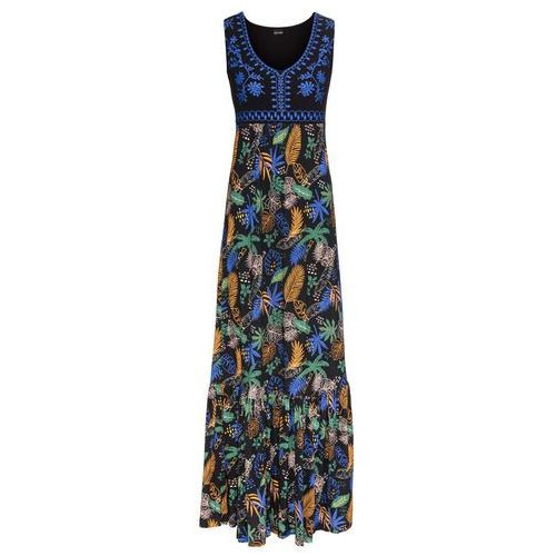 Sukienka koronkowa Premium bonprix srebrny matowy, kolor niebieski