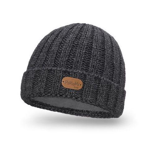 Zimowa czapka dziecięca PaMaMi - Ciemnoszary - Ciemnoszary