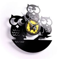 Discoclock 004 Trzy mądre sowy zegar ścienny, kolor Discoclock