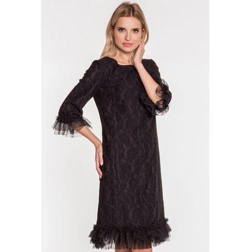 2cb1b0b925 Zobacz ofertę Paola collection Czarna sukienka z falbanką
