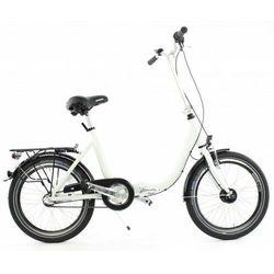 Mifa germany Aluminiowy rower składany składak niska rama mifa 3 biegi nexus shimano prądnica biały