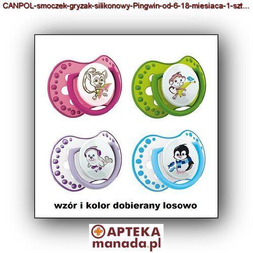 CANPOL smoczek-gryzak silikonowy od 6-18 miesiąca 1 sztuka, 22/818