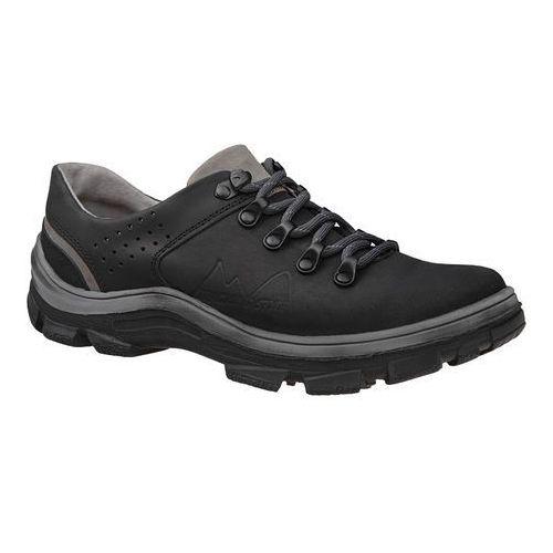 Półbuty buty trekkingowe KORNECKI 5329 Czarne - Czarny