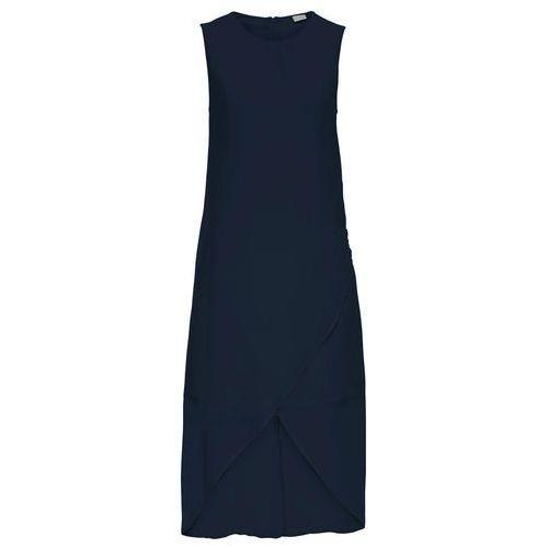 6e85779081 Sukienka szyfonowa z założeniem kopertowym ciemnoniebieski (bonprix ...