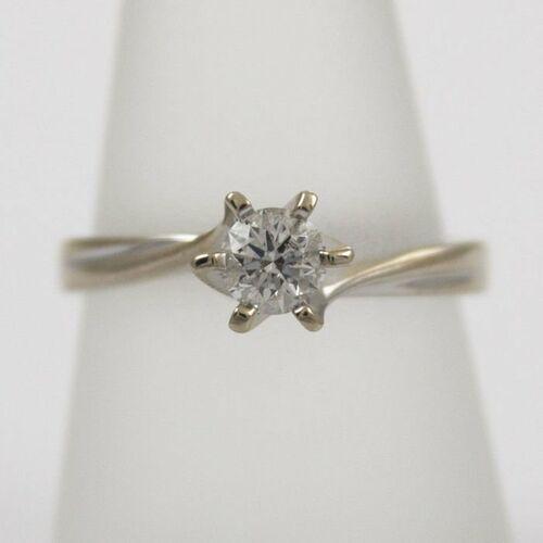 Złoty pierścionek z diamentem P1586
