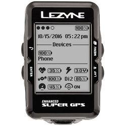 Komputer rowerowy super gps czarny marki Lezyne