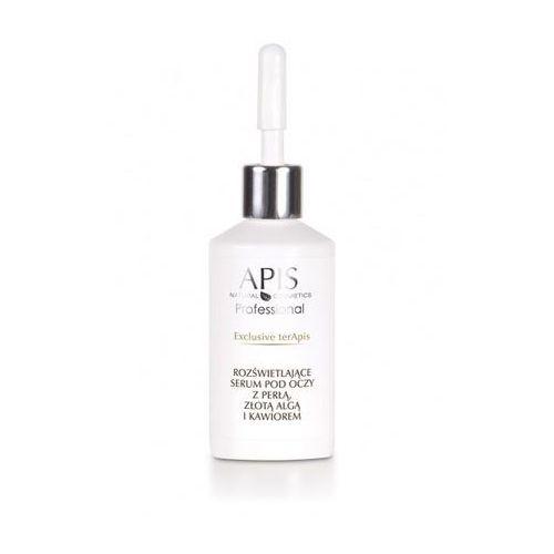 Apis natural cosmetics Apis exclusive terapis rozświetlające serum pod oczy z perłą, złotą algą i kawiorem 30 ml