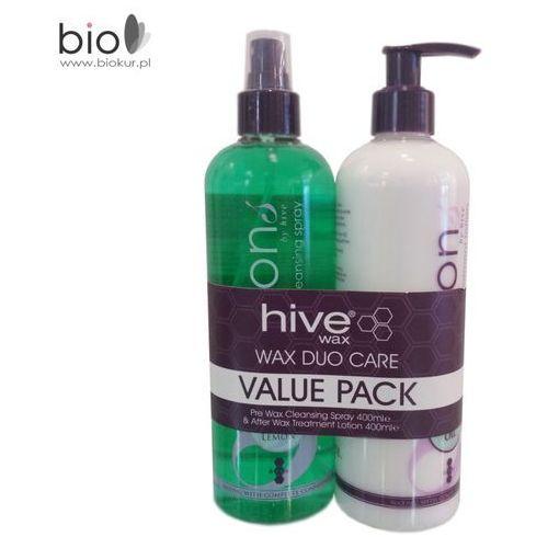 B&m Zestaw promocyjny wax duo care - lotion przed-depilacyjny 400 ml + balsam po-depilacyjny 400 ml