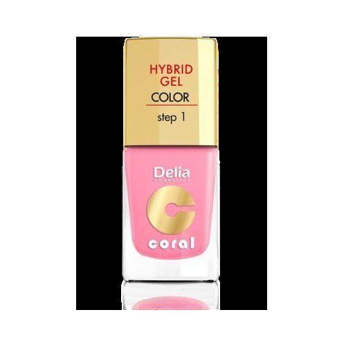 Delia cosmetics coral hybrid gel emalia do paznokci nr 24 jasny róż 11ml