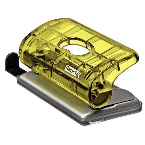 Dziurkacz RAPID mini ColourIce FC5 - żółty (4051661030826)