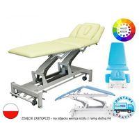 Stół rehabilitacyjny Terapeuta M-P5.F0 z elektryczną regulacją wysokości z ramy oraz pozycją Pivota i funkcją fotela