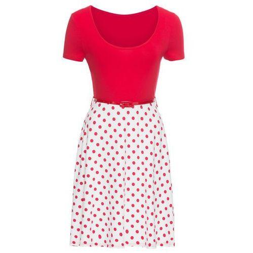 Sukienka bonprix czerwono-biały, kolor czerwony