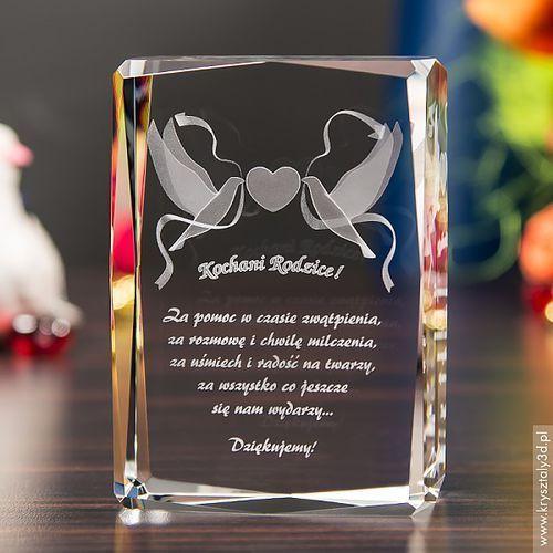 Pamiątka Ślubu Gołąbki Miłości 3D średnia stautetka • GRAWER 3D