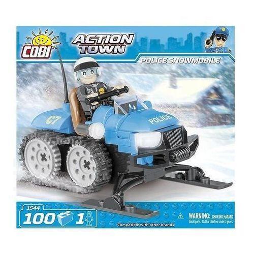 Action Town - Policyjny Skuter Śnieżny 1544 Klocki COBI
