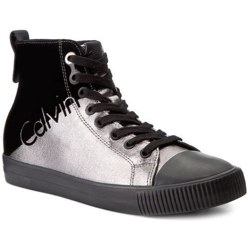 cc8fb1f58fd91 Trampki jeans - dotty r0640 pewter/black marki Calvin klein